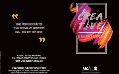 Invitation Créative Expérience Konica Minolta