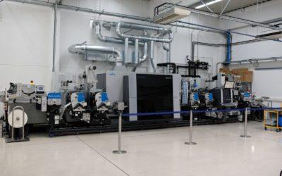 Présentation de la presse numérique Gallus Labelfire en production chez Insignis (Autriche)