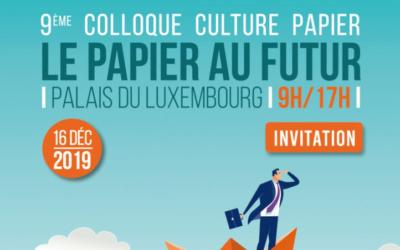 9ème colloque Culture Papier «Le papier au futur»