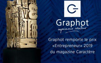 Graphot, l'imprimeur créateur, reçoit le prix de l'entrepreneur