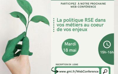 Web Conférence : La politique RSE dans vos métiers au coeur de vos enjeux