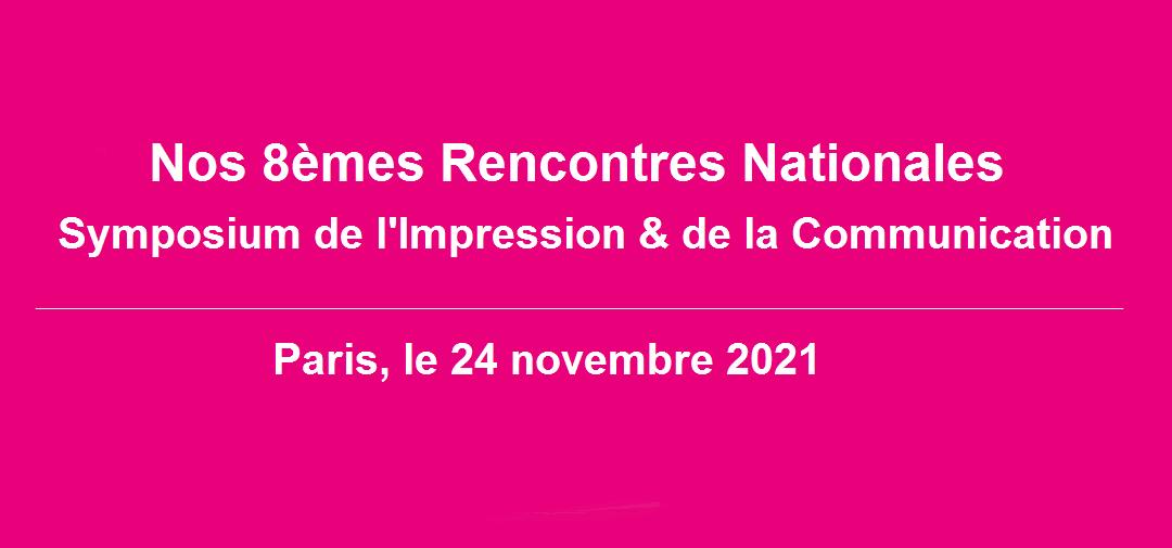 Save The Date : Congrès national de l'Impression et de la Communication, mercredi 24 novembre 2021